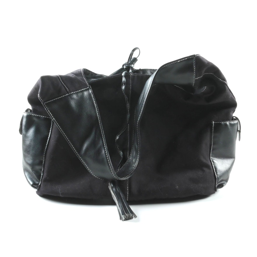 ea0c1d64b2d0 Givenchy Parfums Black Canvas Hobo Bag   EBTH