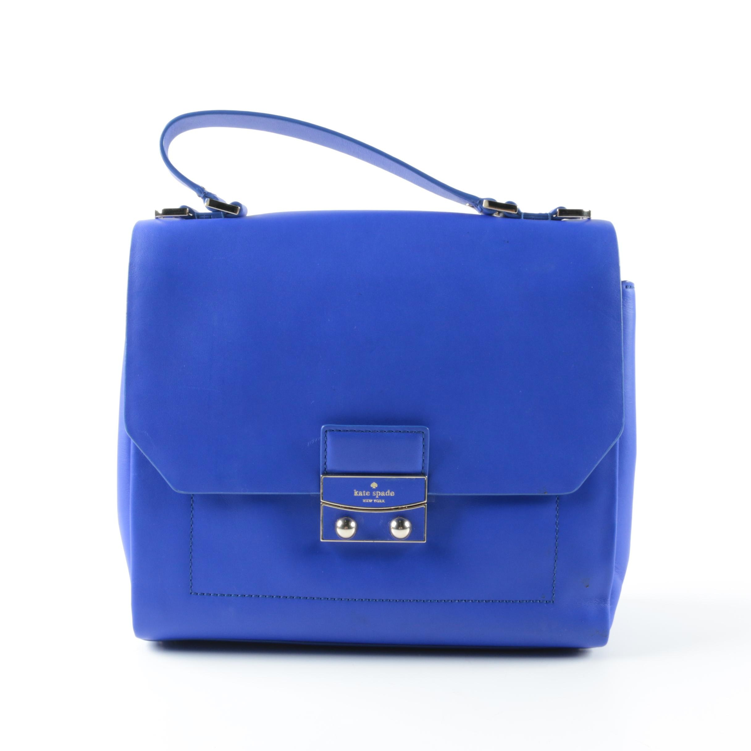Kate Spade Electric Blue Leather Top Handle Bag