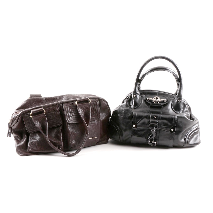 Tahari And Tracy Reese Leather Handbags