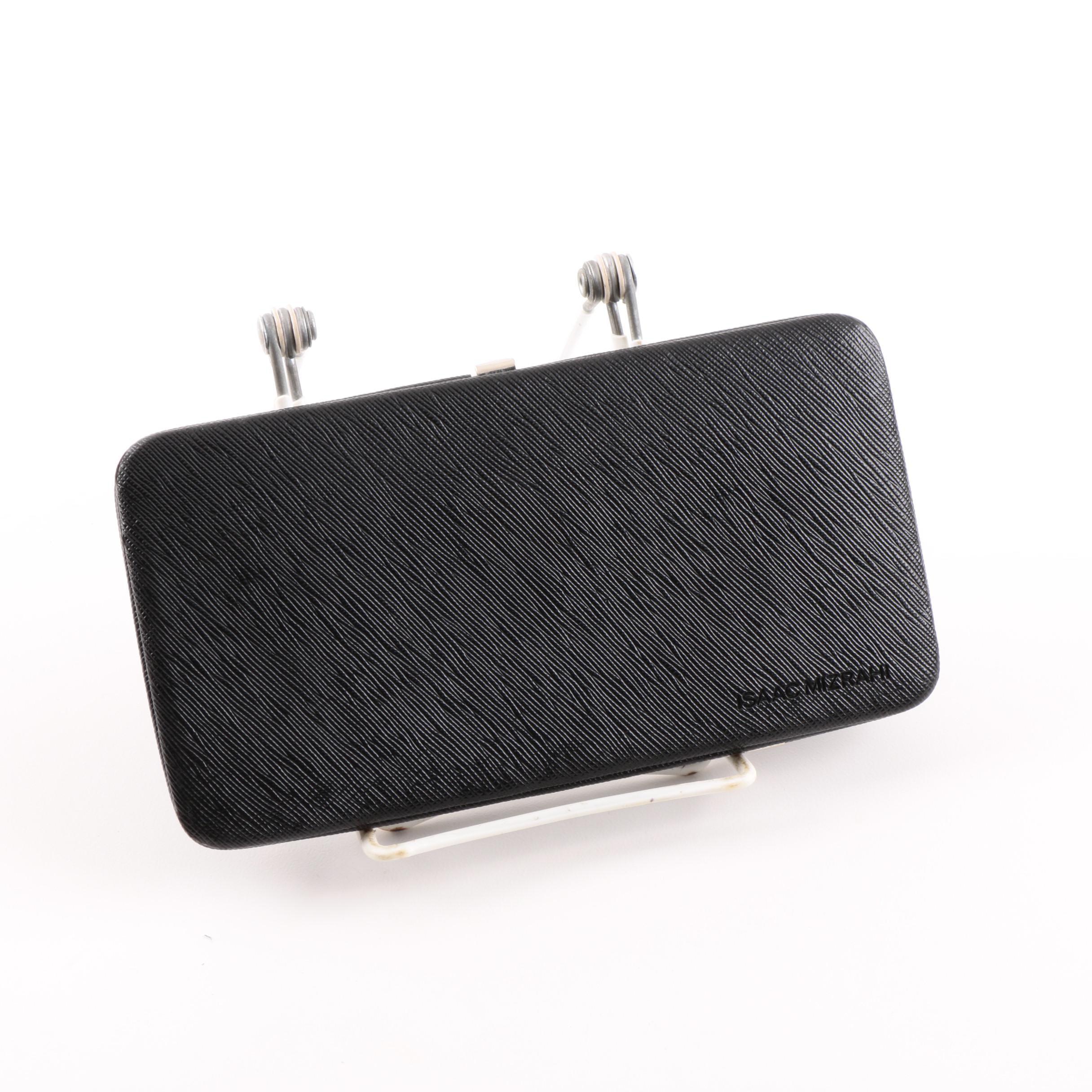 Isaac Mizrahi Black Faux Leather Wallet