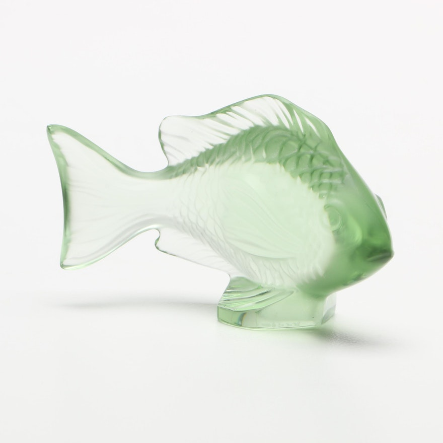 Lalique Crystal Fish Figurine Ebth