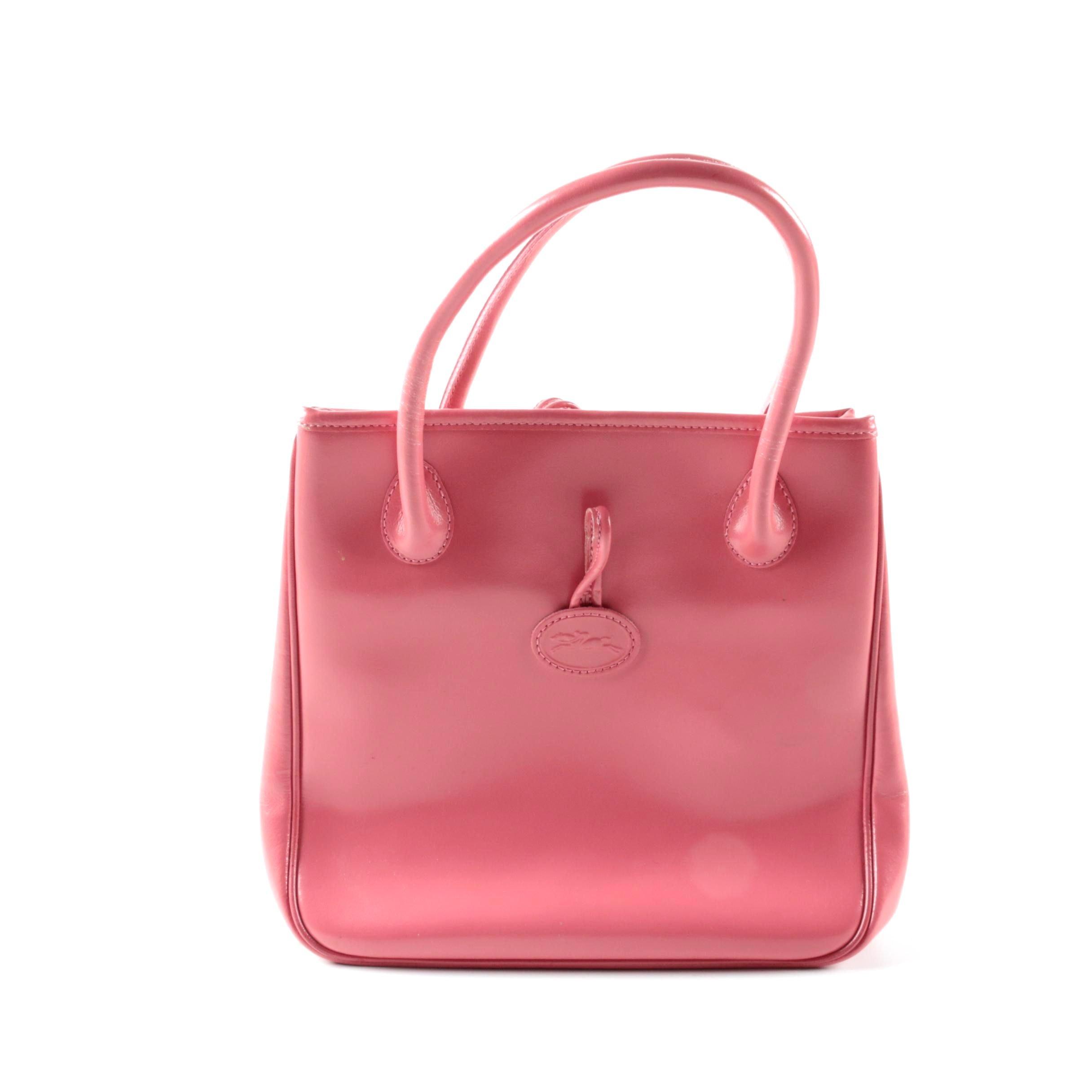 Longchamp Pink Leather Handbag