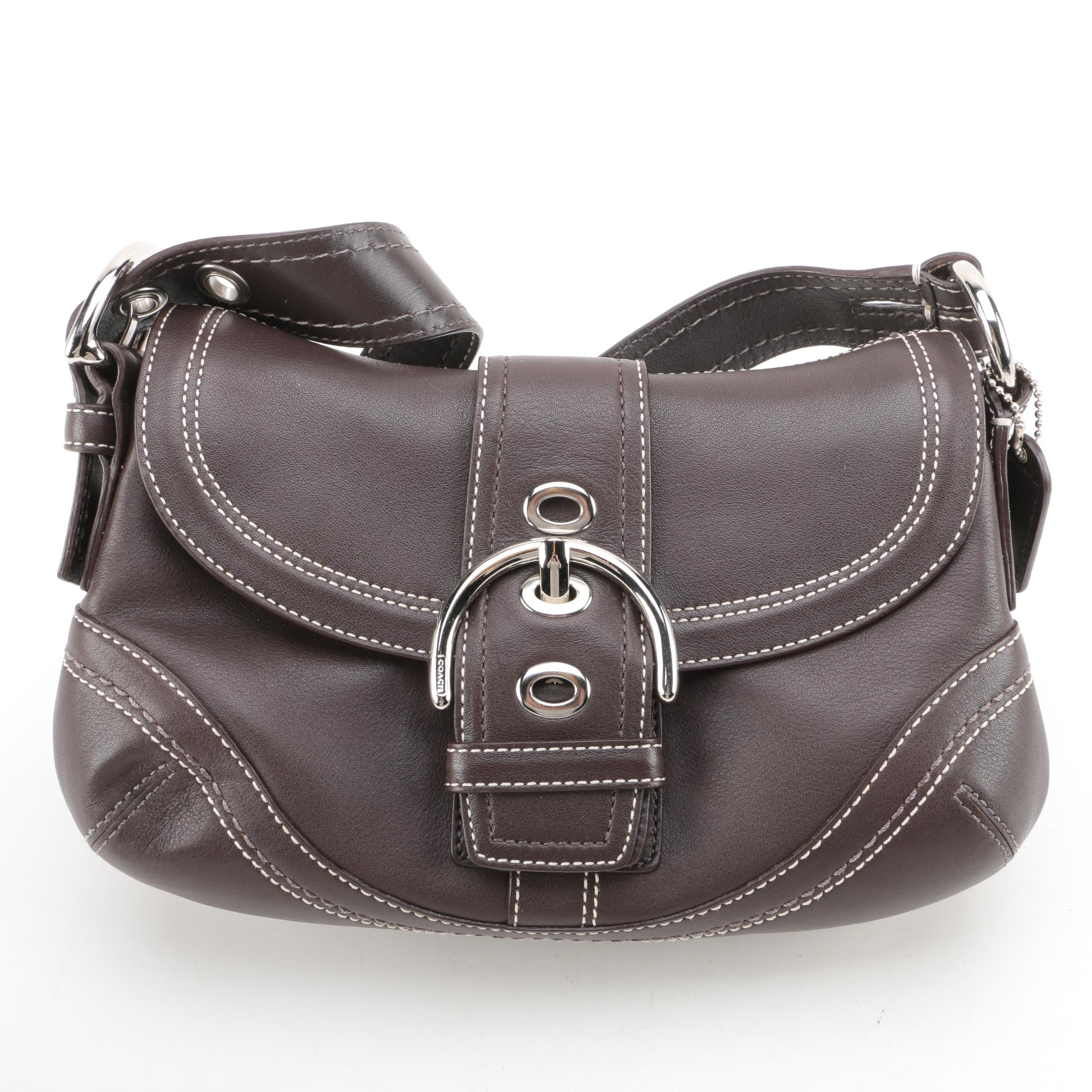 Coach Soho Buckle Flap Brown Leather Handbag
