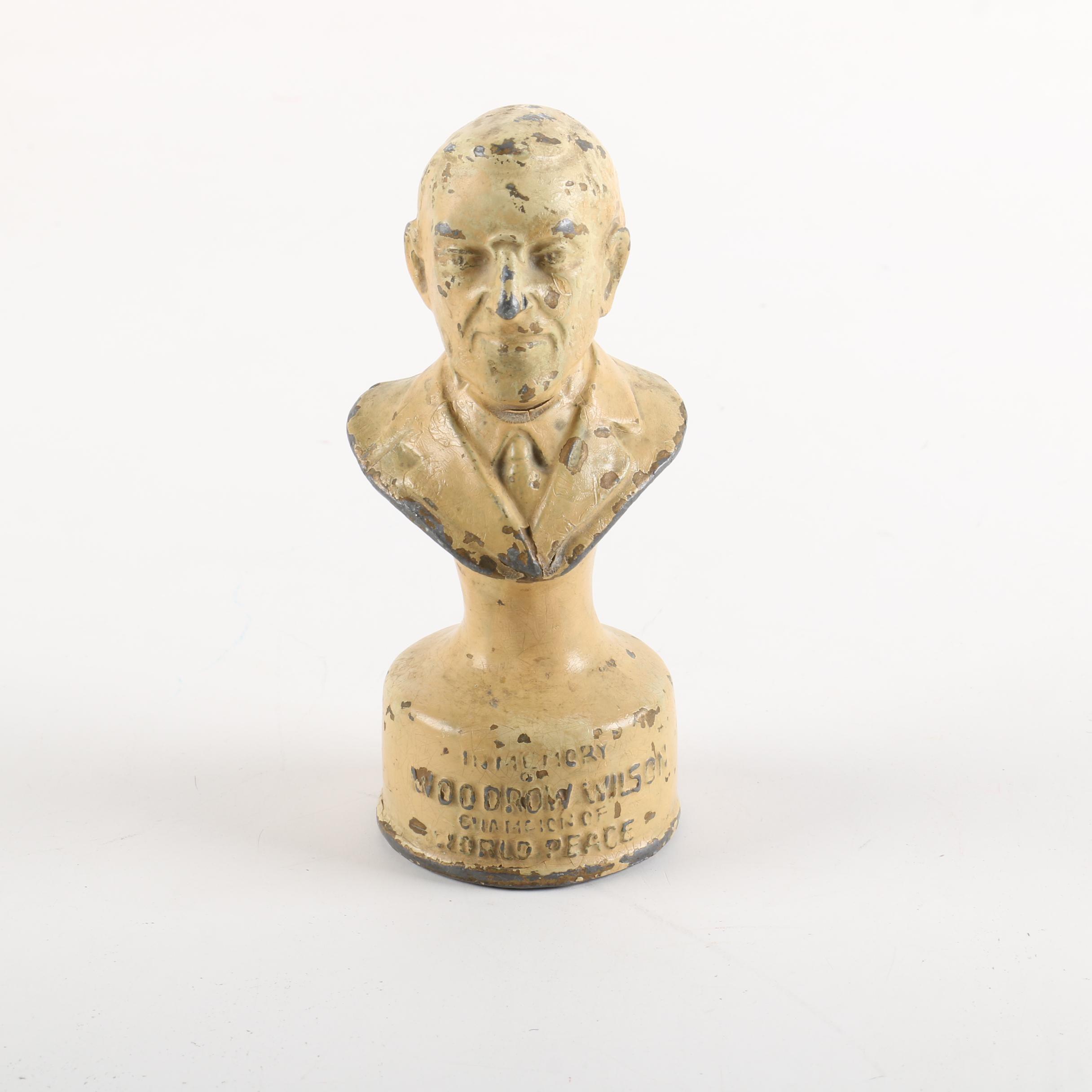 Metal Woodrow Wilson Figurine