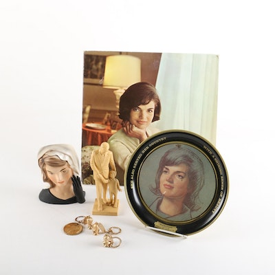 1964 Inarco Jackie Kennedy Vase and Widowhood Years Memorabilia, 1963-1968