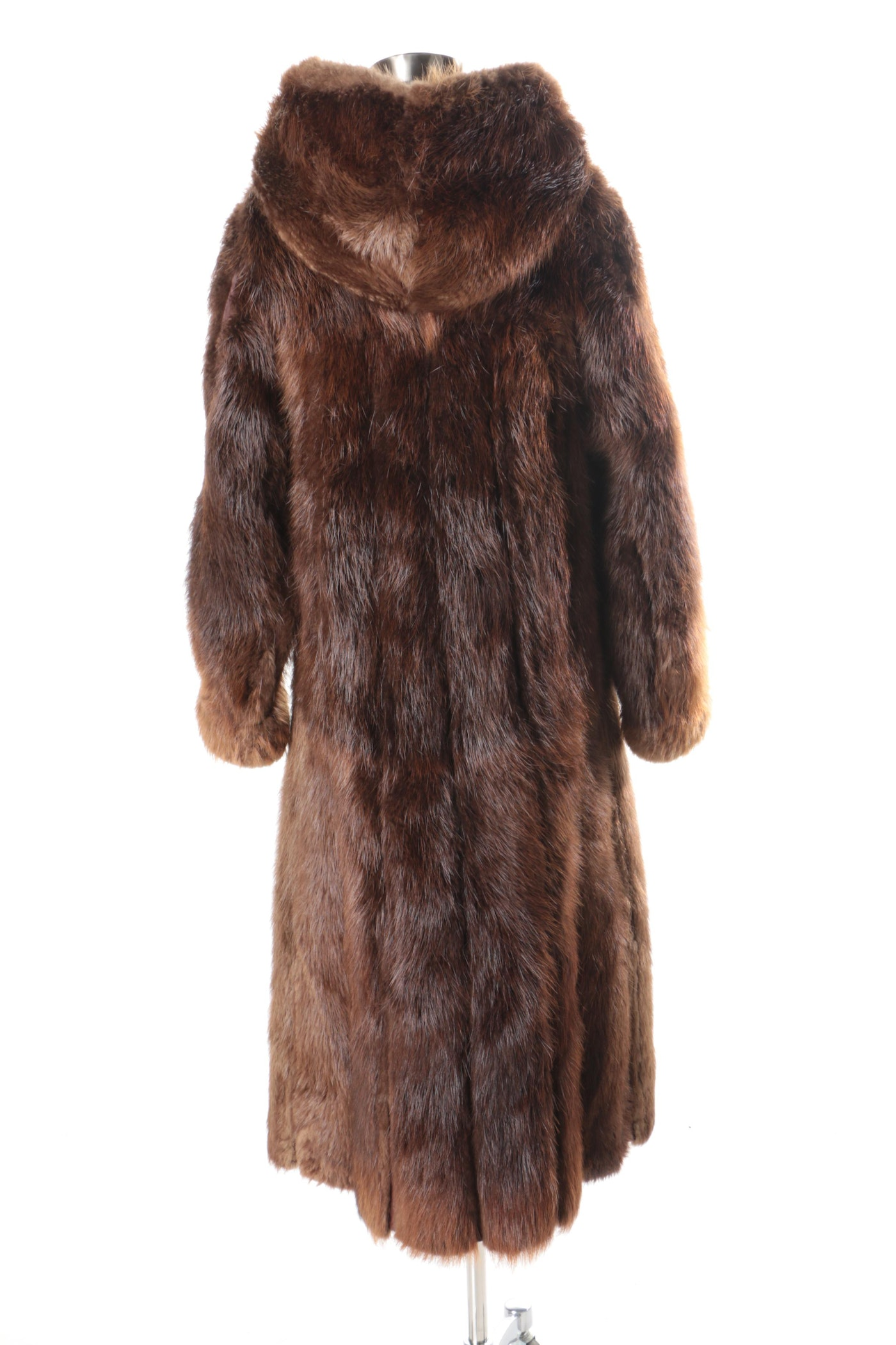 neiman marcus full length beaver fur coat with detachable. Black Bedroom Furniture Sets. Home Design Ideas