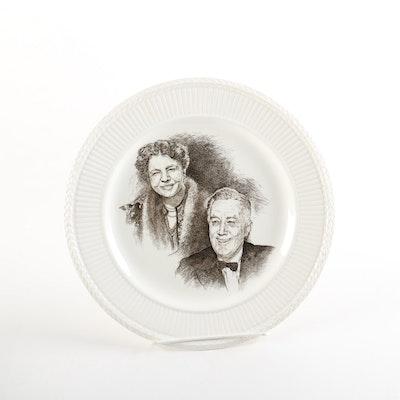 Vintage Wedgwood Eleanor and Franklin D. Roosevelt Commemorative Plate