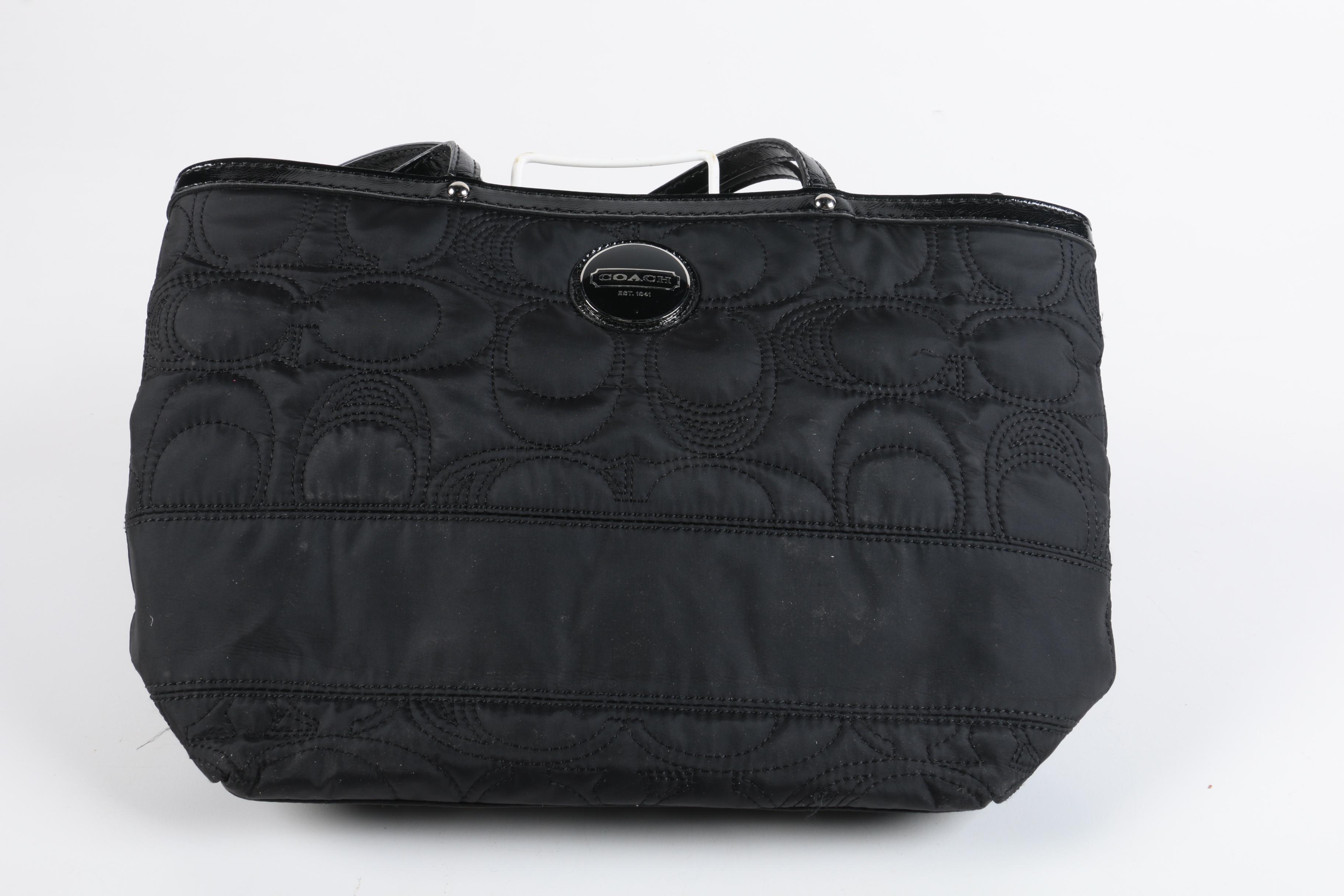 Coach Signature Stitch Nylon Tote Bag