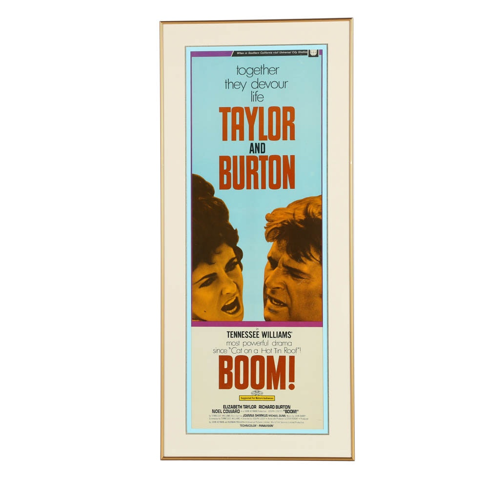 "Vintage Offset Lithograph Movie Poster ""Boom!"""