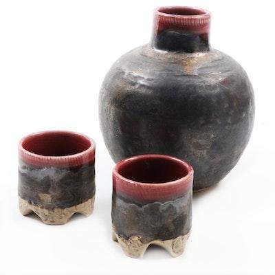Hand Thrown Stoneware Sake Set
