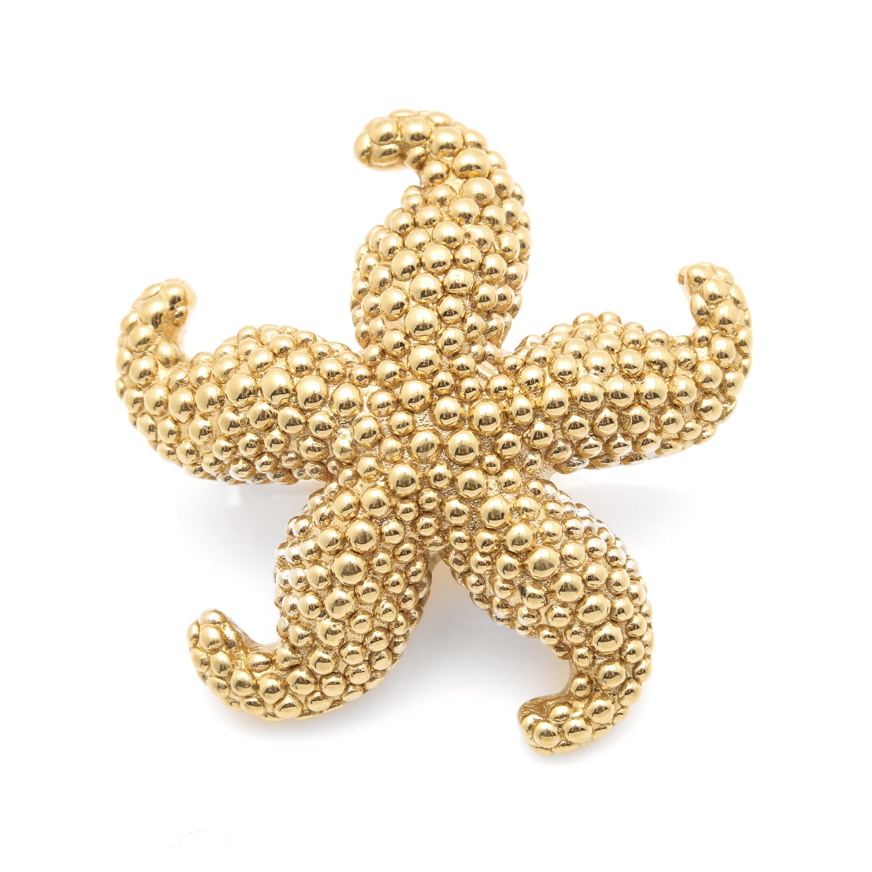 Aya Azrielant Signature 18K Yellow Gold Starfish Pendant