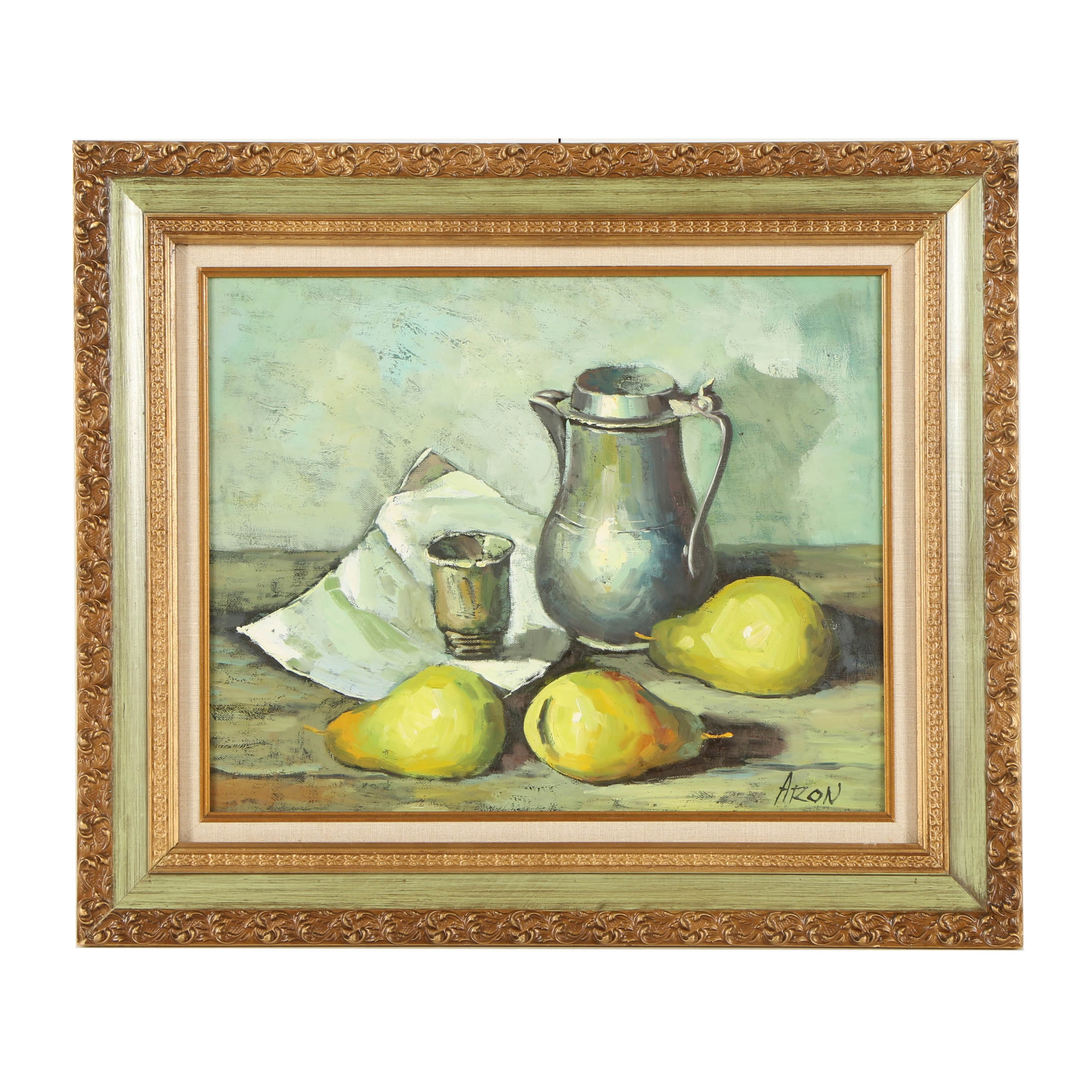 Aron Oil Painting of a Still Life with Pears