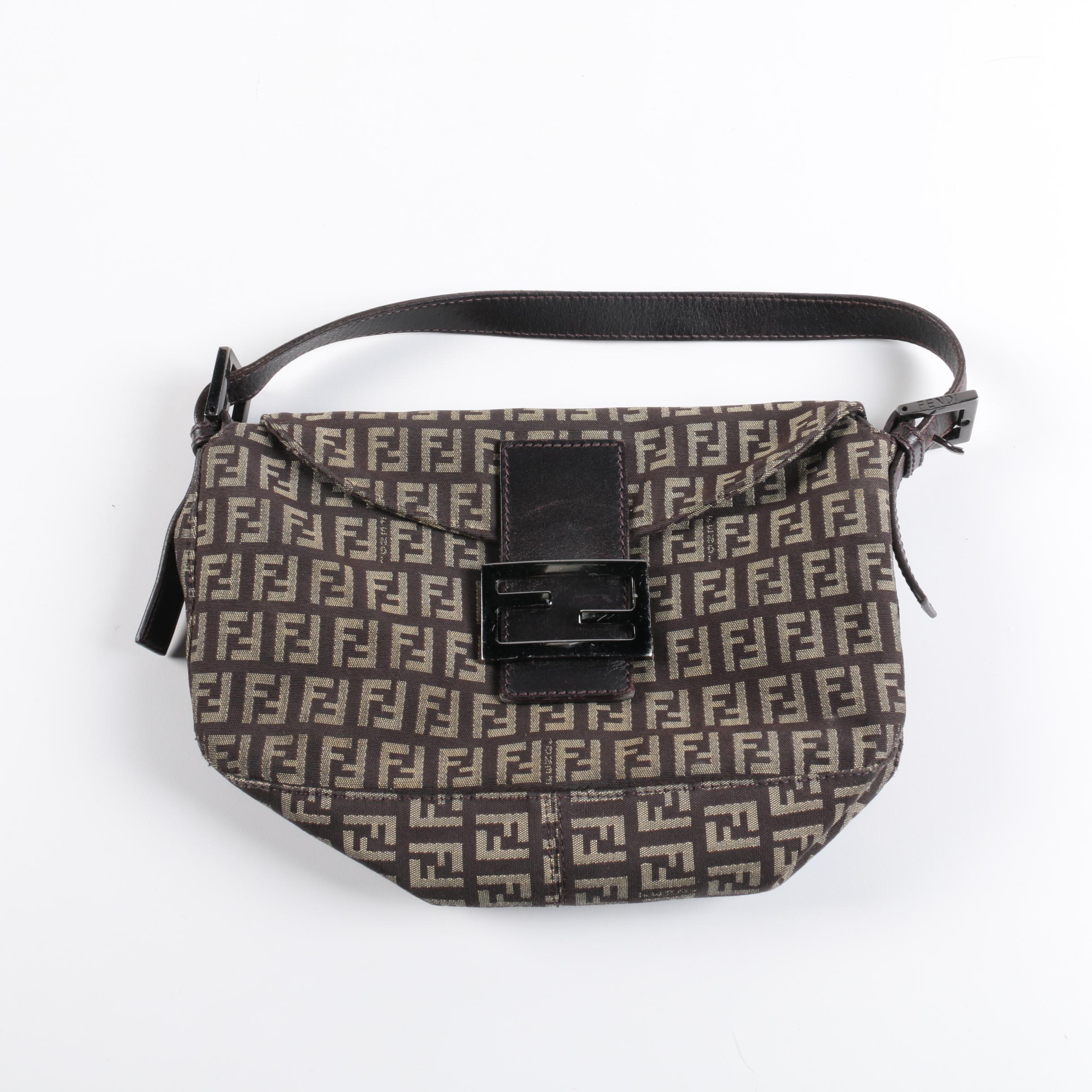 Fendi Zucca Brown Canvas Handbag