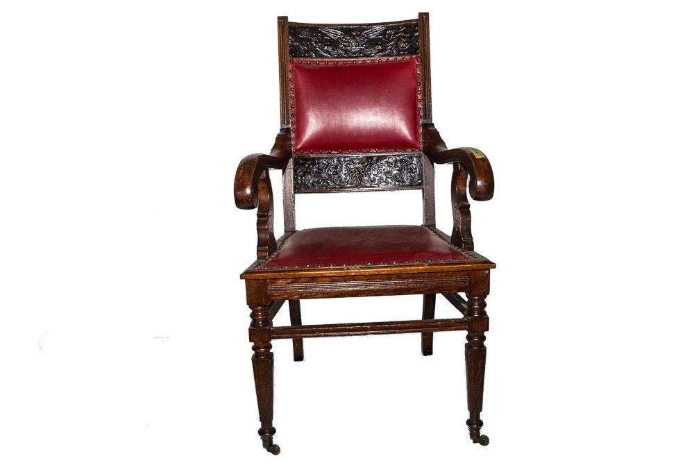 Antique Colonial Revival Armchair