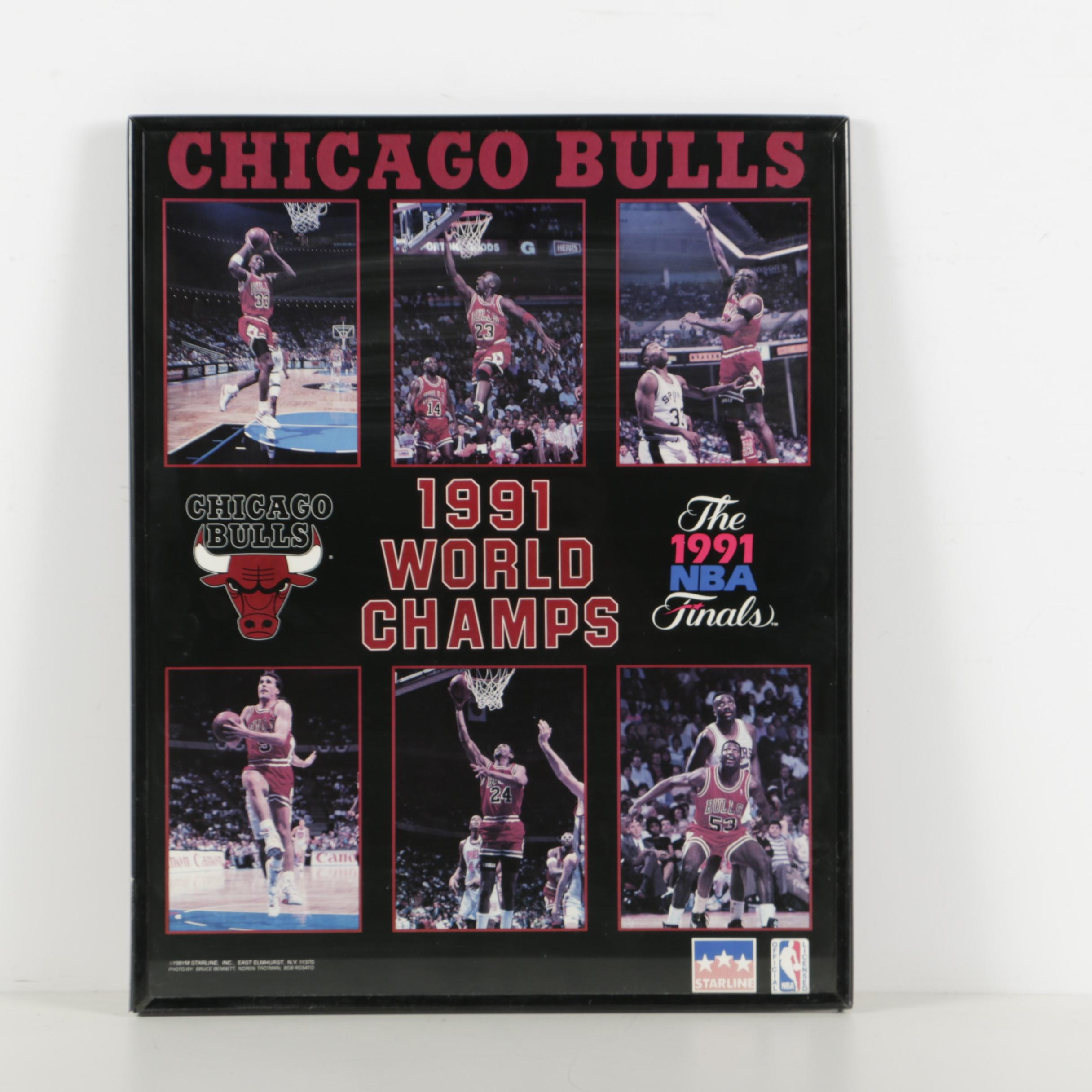 Chicago Bulls 1991 World Champs Poster : EBTH