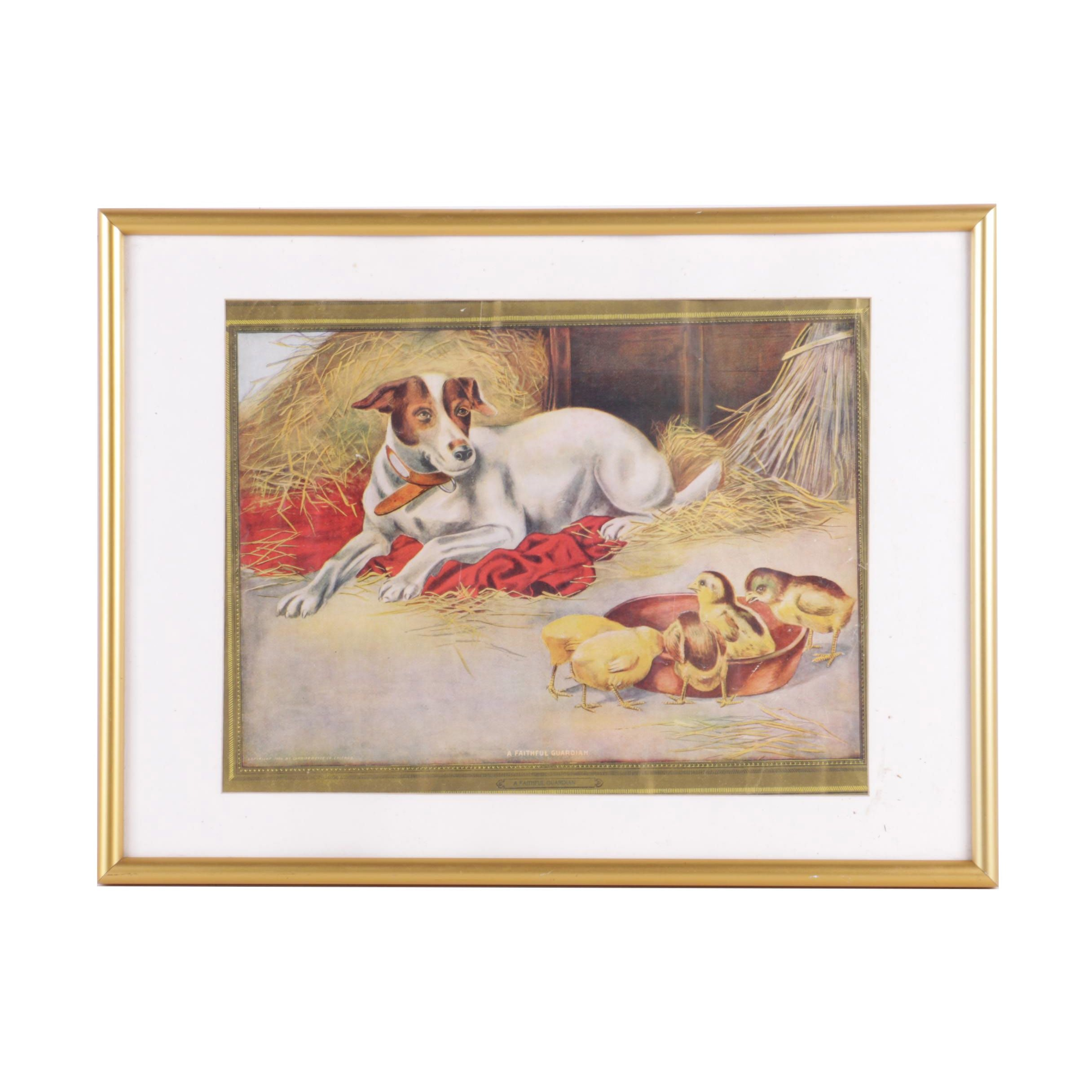 "Offset Lithograph on Paper of ""A Faithful Guardian"""