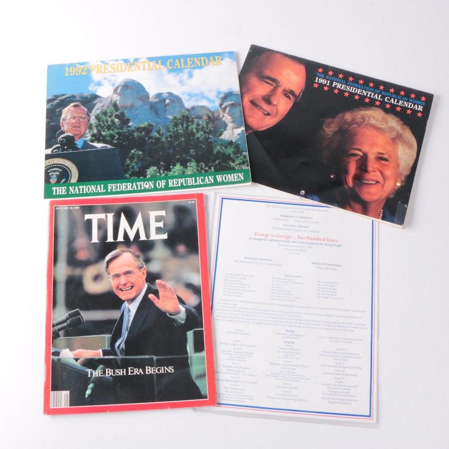 President George H.W. Bush Memorabilia