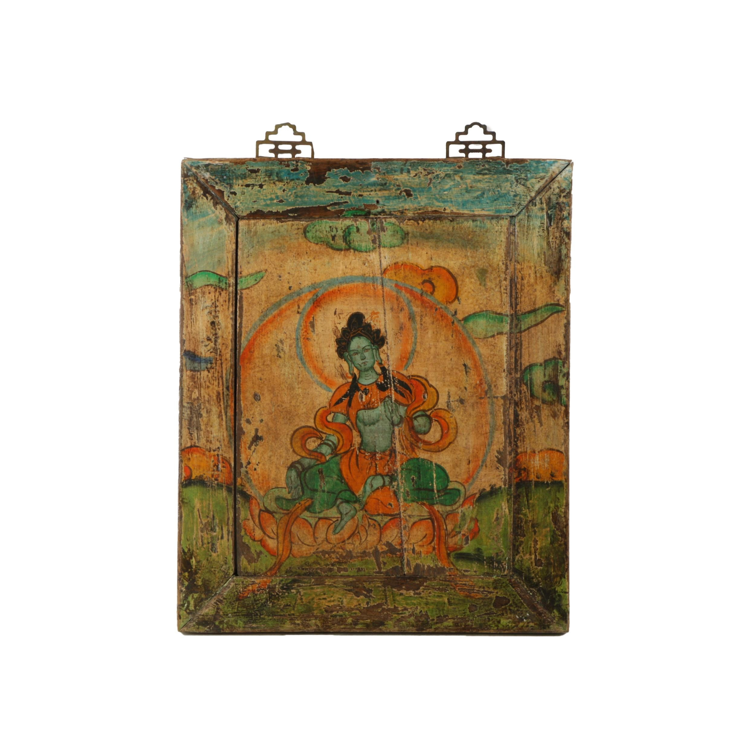 Oil Painting on Panel of a Deity