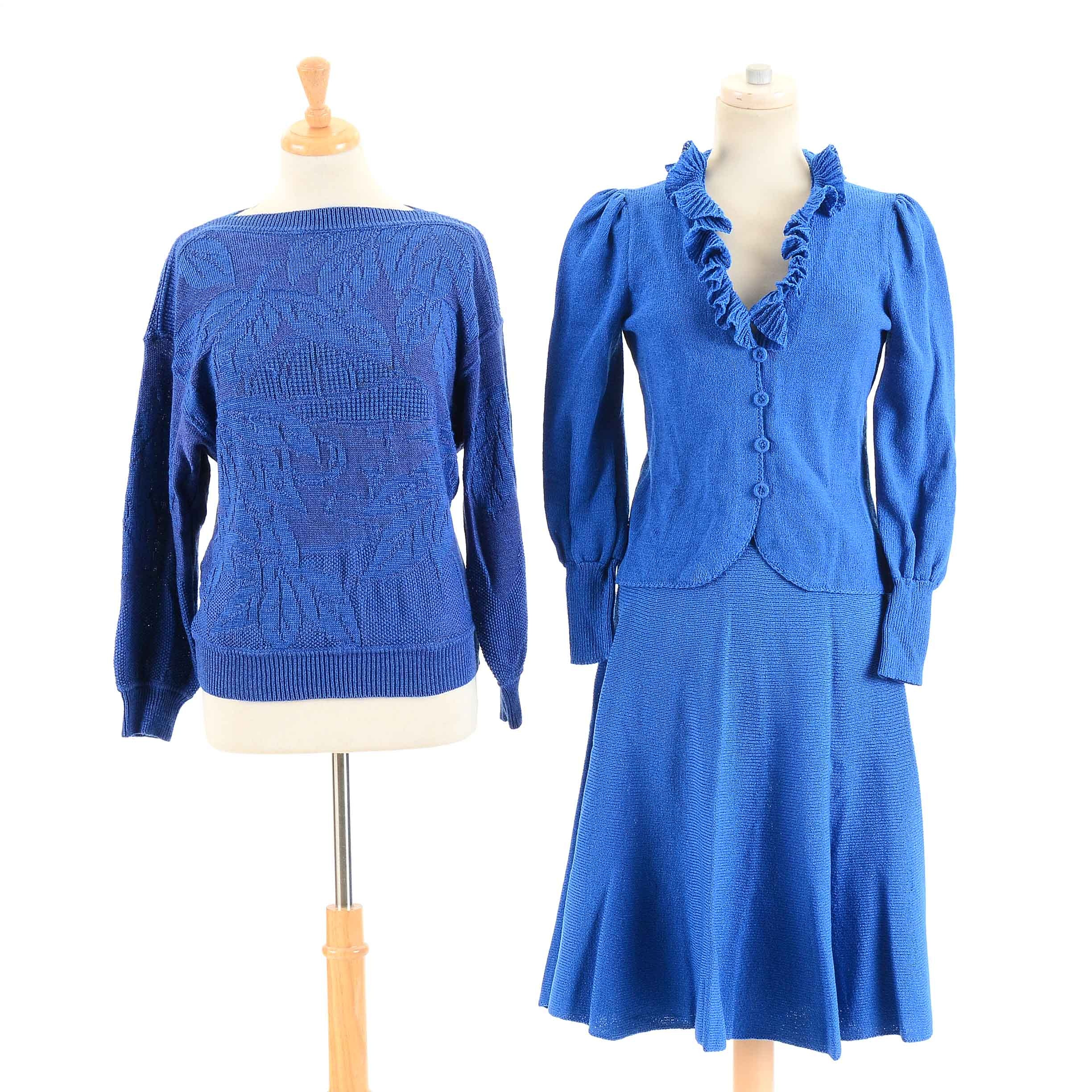 Women's Vintage Blue Knitwear