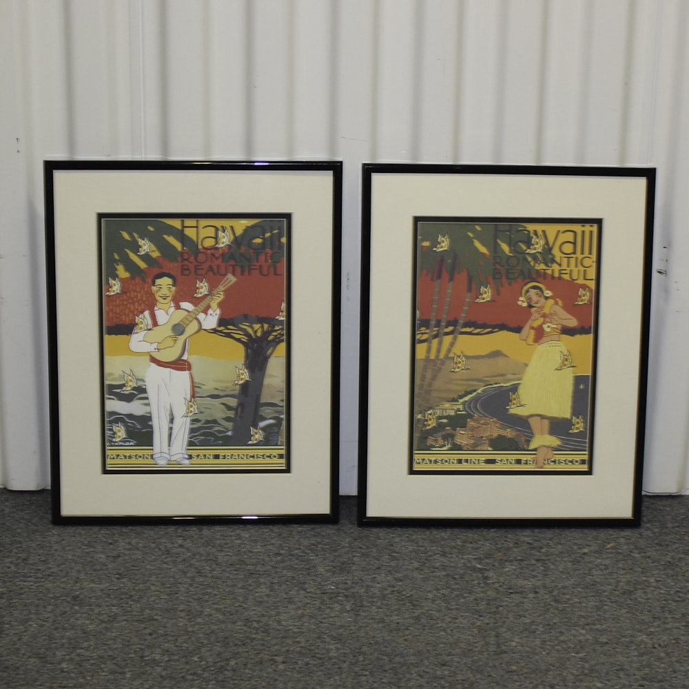 Vintage Matson Line Hawaii Tourism Posters