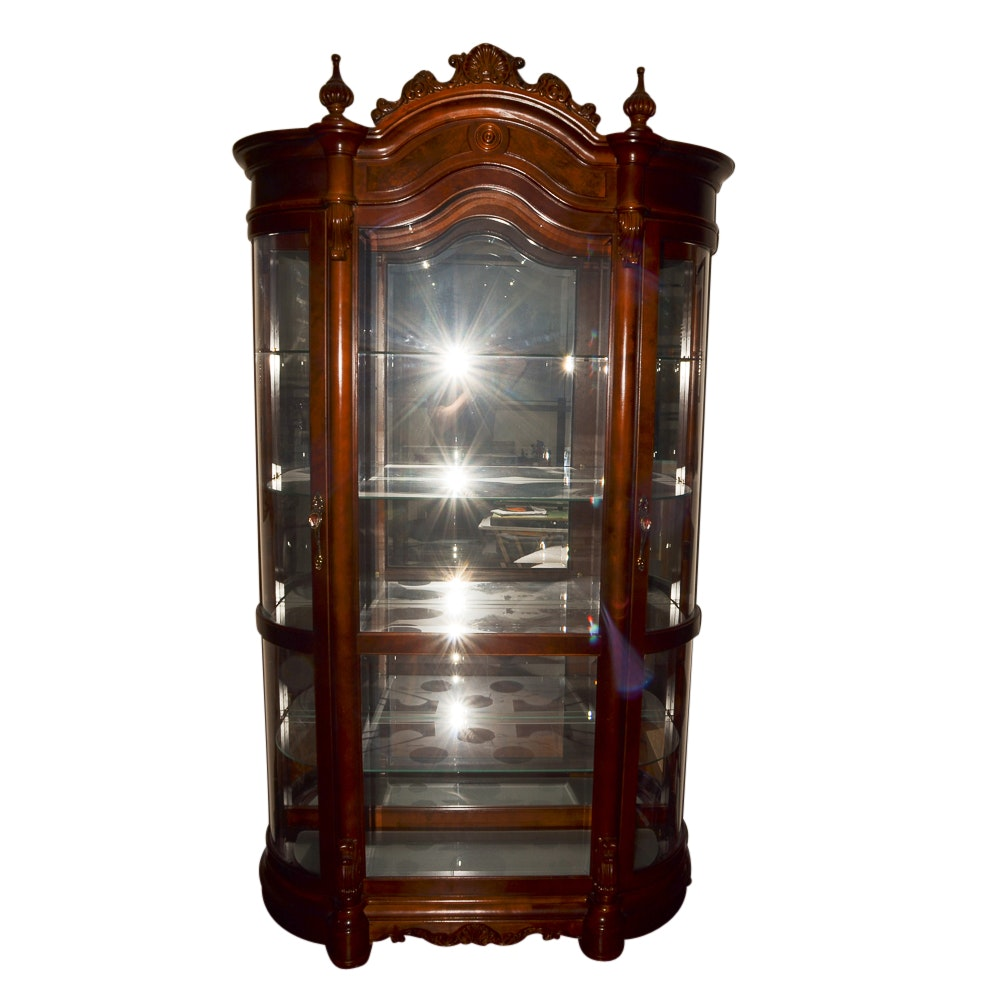 Rococo-Revival Style Display Cabinet
