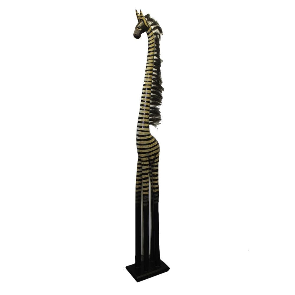 Hand Painted Wooden Giraffe