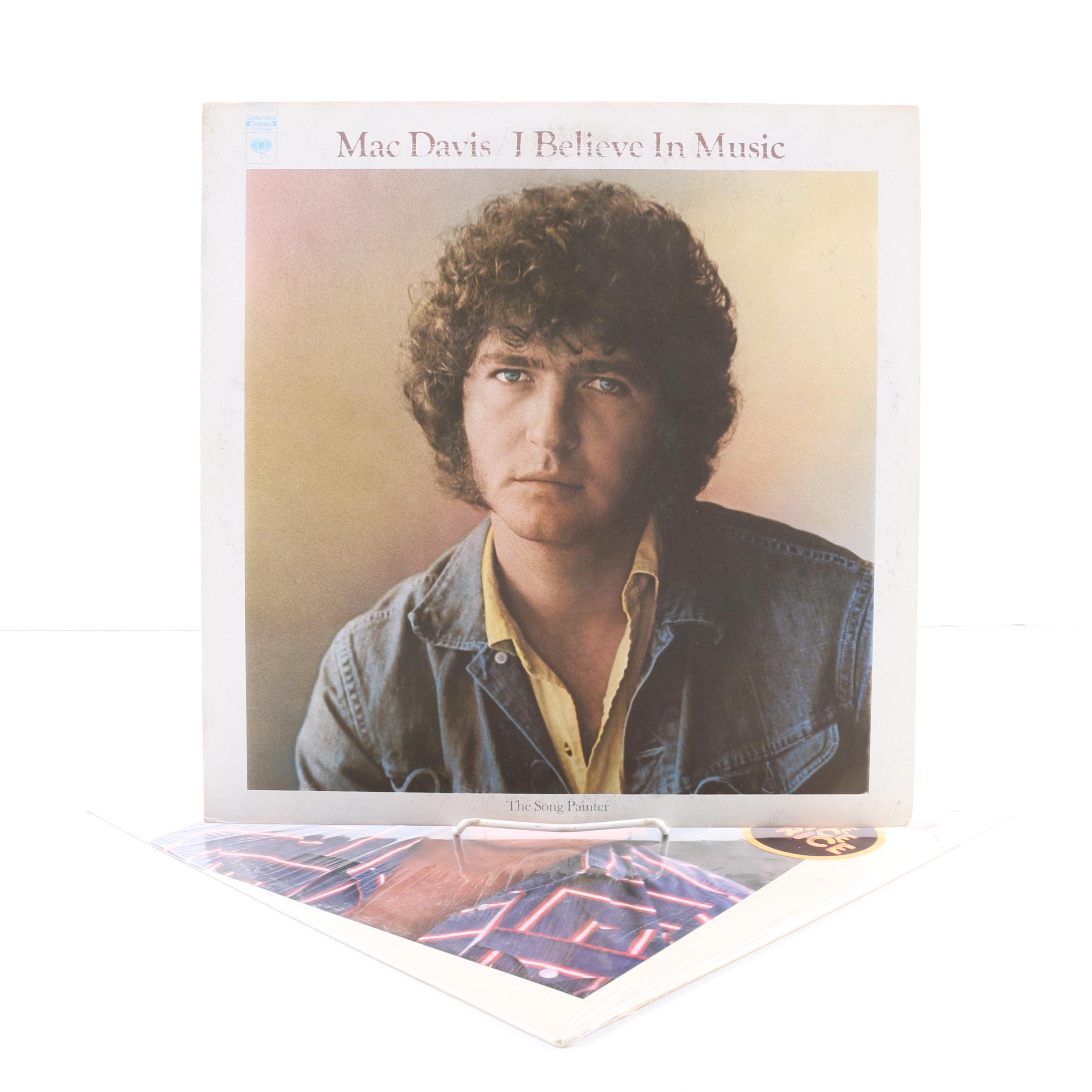 """Mac Davis LPs Including """"I Believe In Magic"""""""