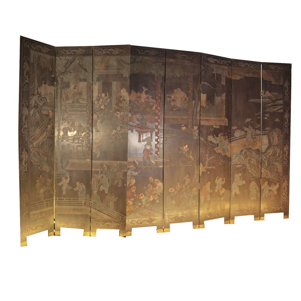 Vintage Chinese Coromandel Screen