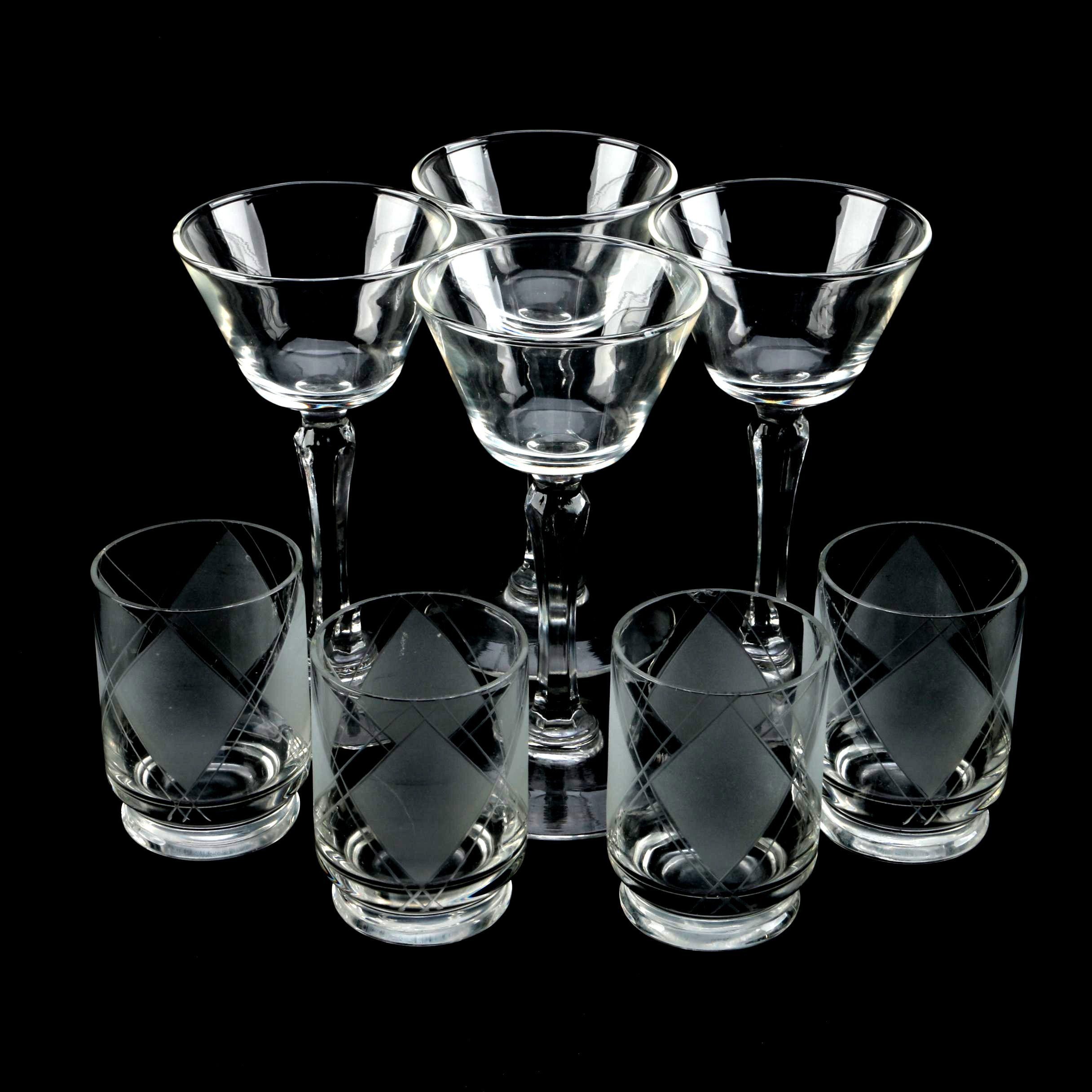 Champagne and Tumbler Glasses