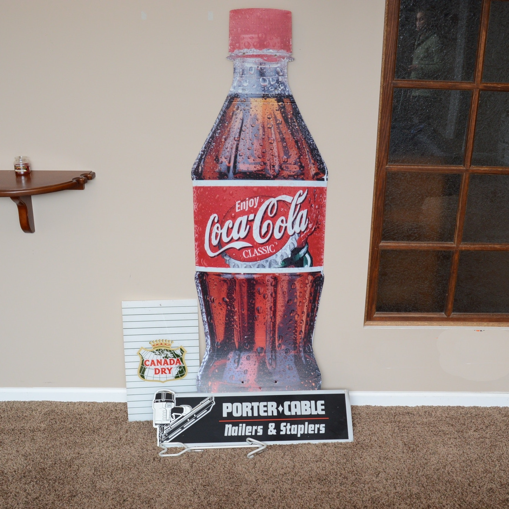 Cardboard Coca-Cola Bottle, Neon Arrow and More