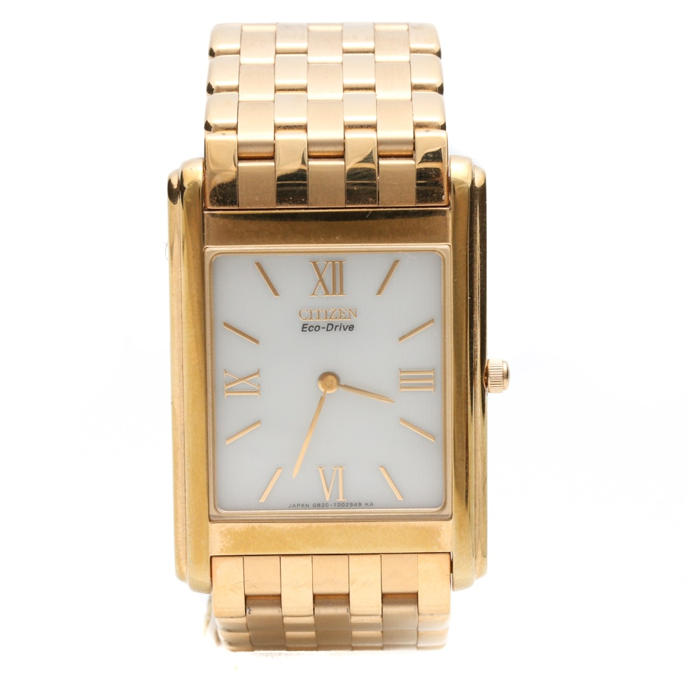 Citizen Eco-Drive Gold Tone and Stainless Steel Wristwatch