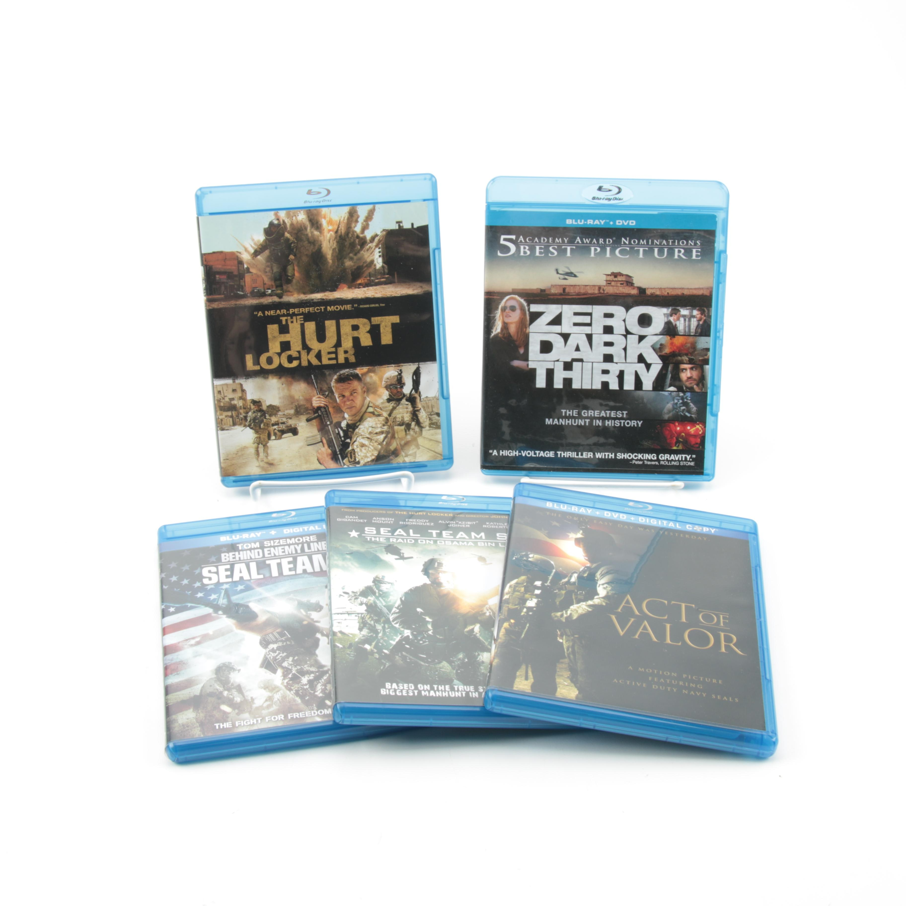"""Modern War Films Blu-Ray Collection Including """"Hurt Locker"""" and """"Act of Valor"""""""