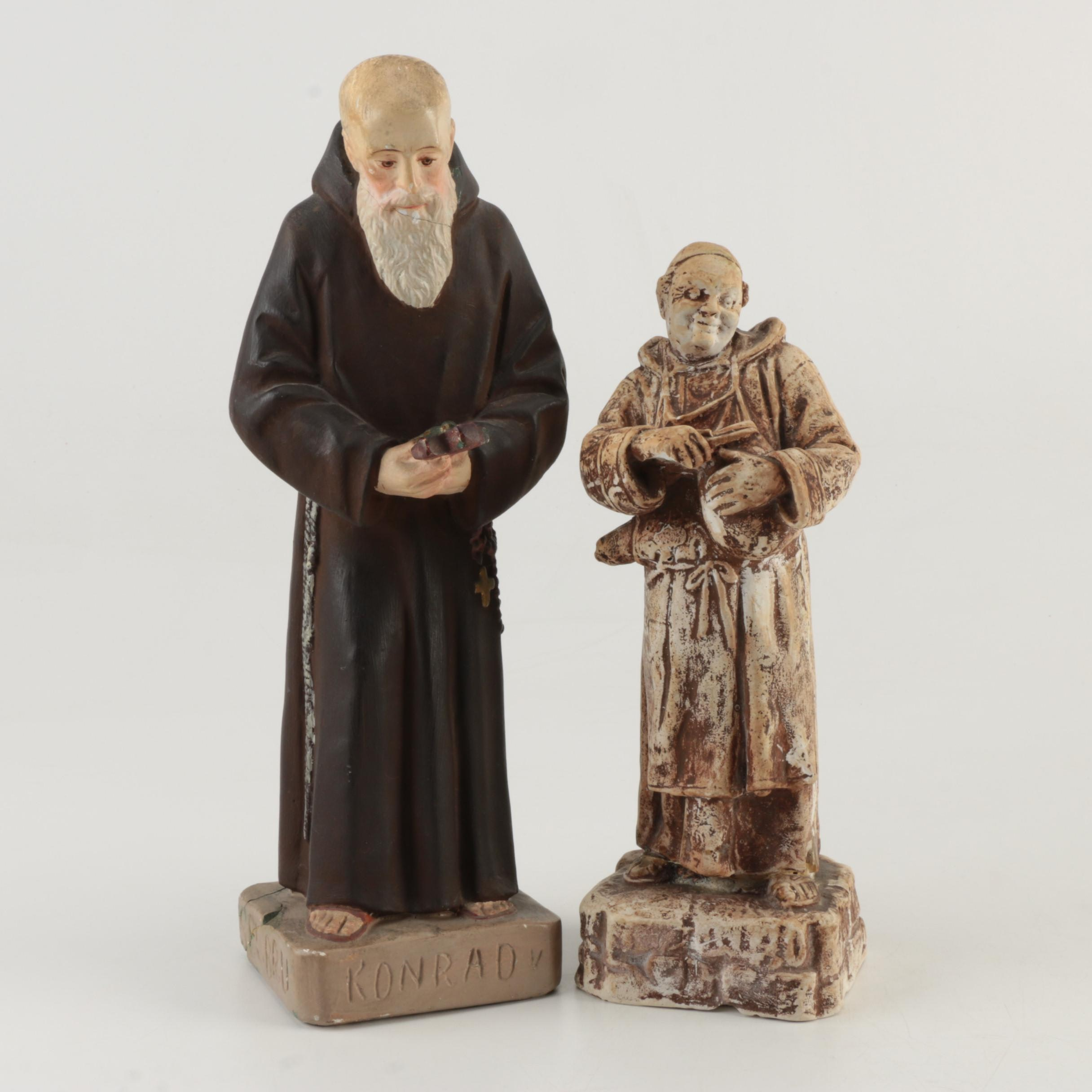 Ceramic Monk Figurines