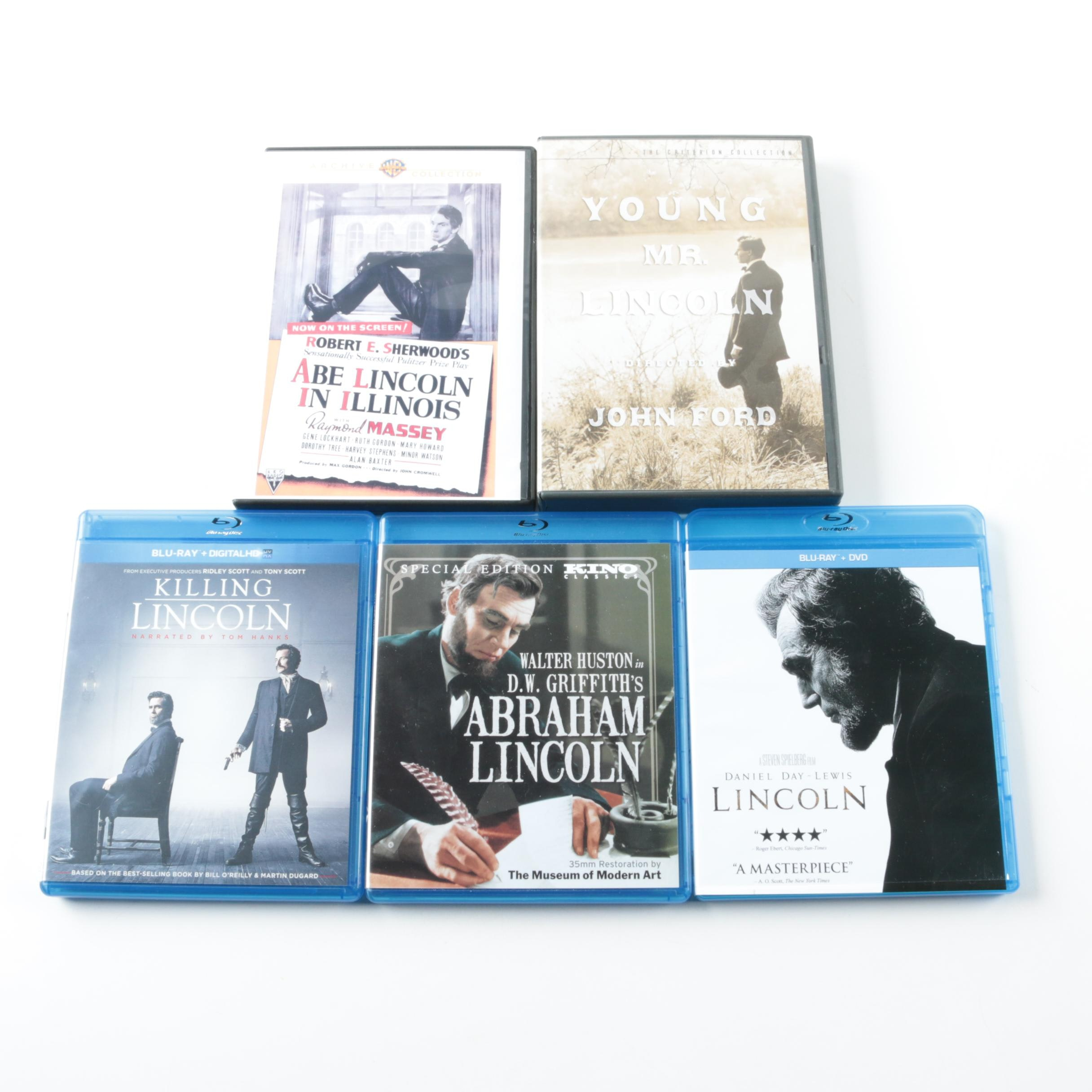 Abraham Lincoln Blu-Ray and DVDs Including Criterion Collection