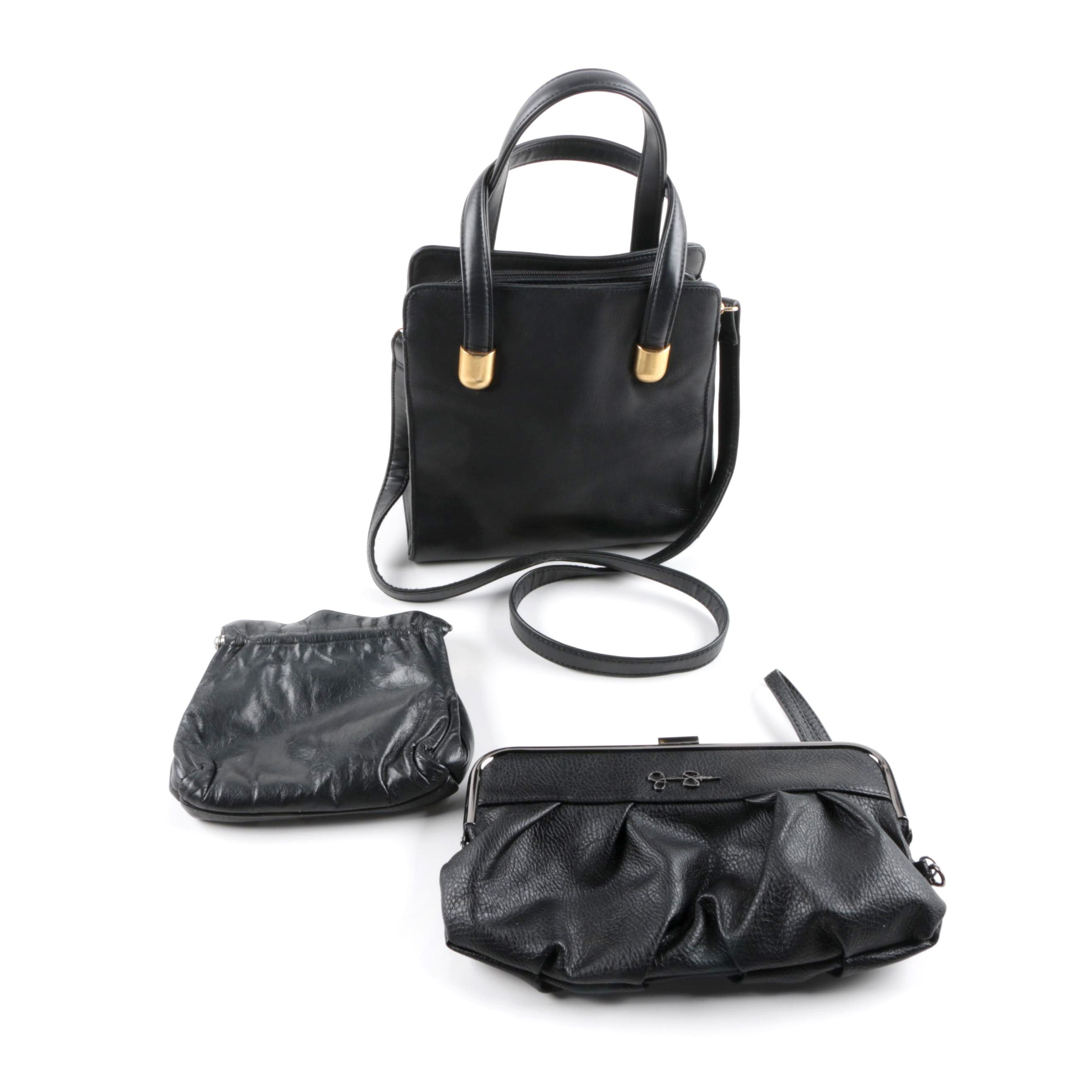 Faux Leather Handbags Including Jessica Simpson