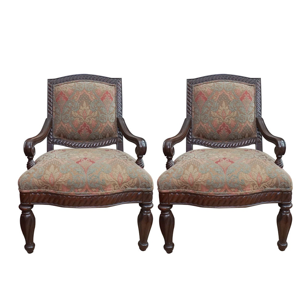 Pair of Neoclassical Style Armchairs by Bernhardt