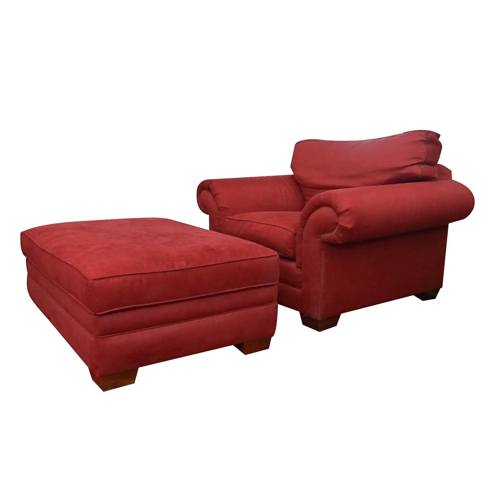 Club Chair and Storage Ottoman by Bassett Furniture
