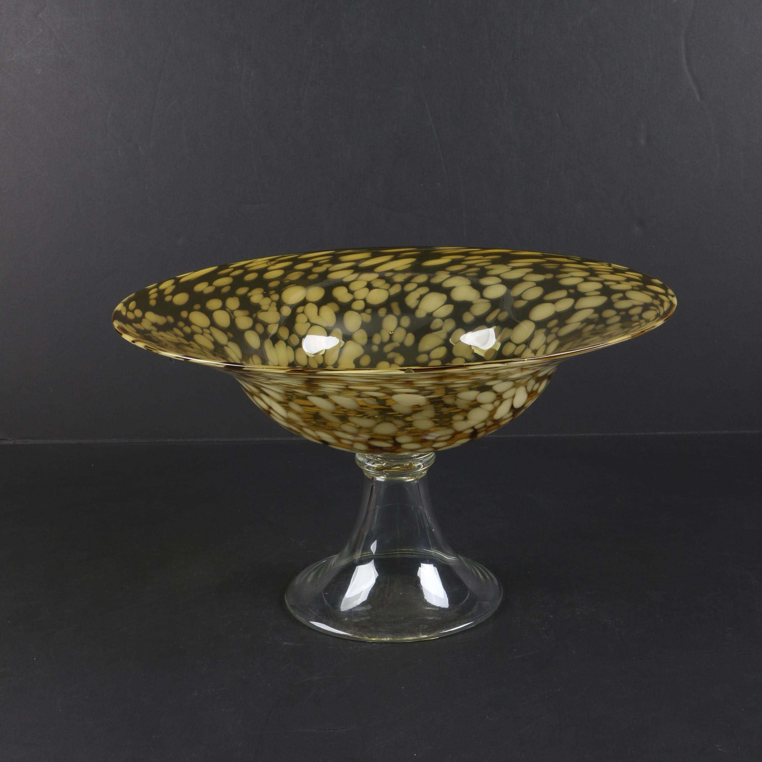 Amber Glass Compote