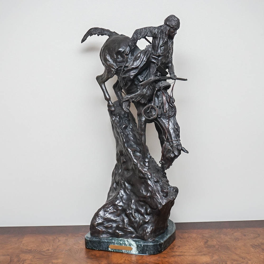 "Bronze Sculpture After Frederick Remington ""The Mountain Man"""