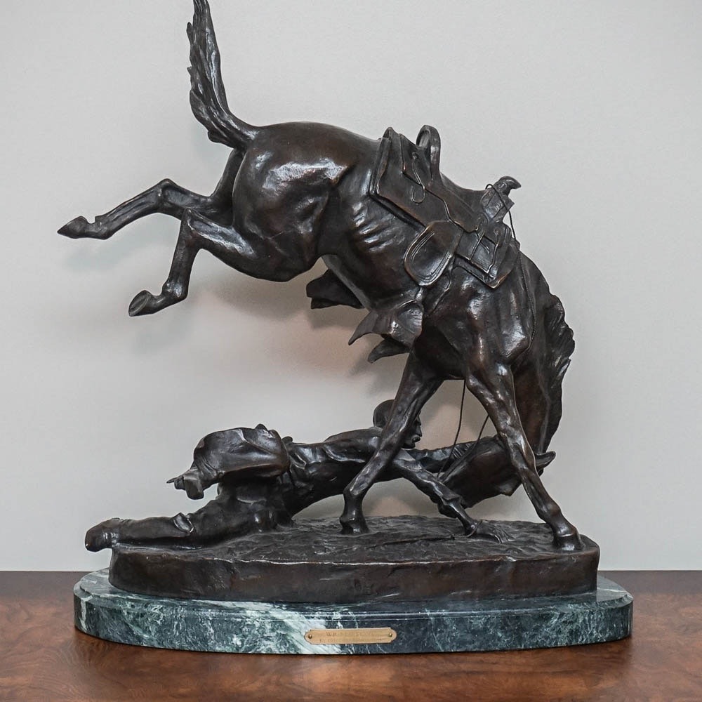 "Bronze Sculpture After Frederic Remington ""Wicked Pony"""