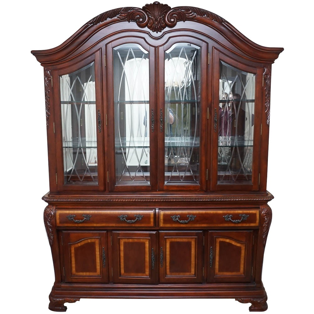 Contemporary Baroque Style China Cabinet