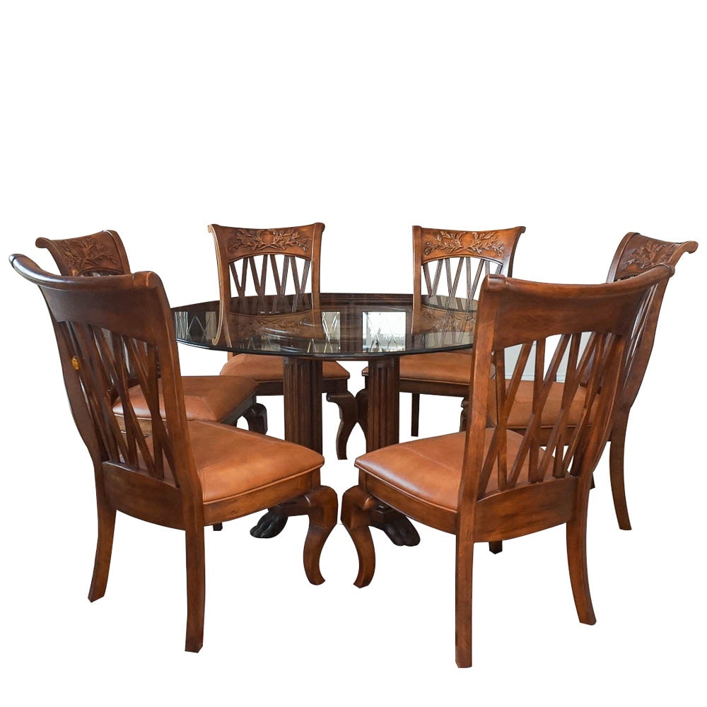 Mediterranean Style Dining Table with Chairs
