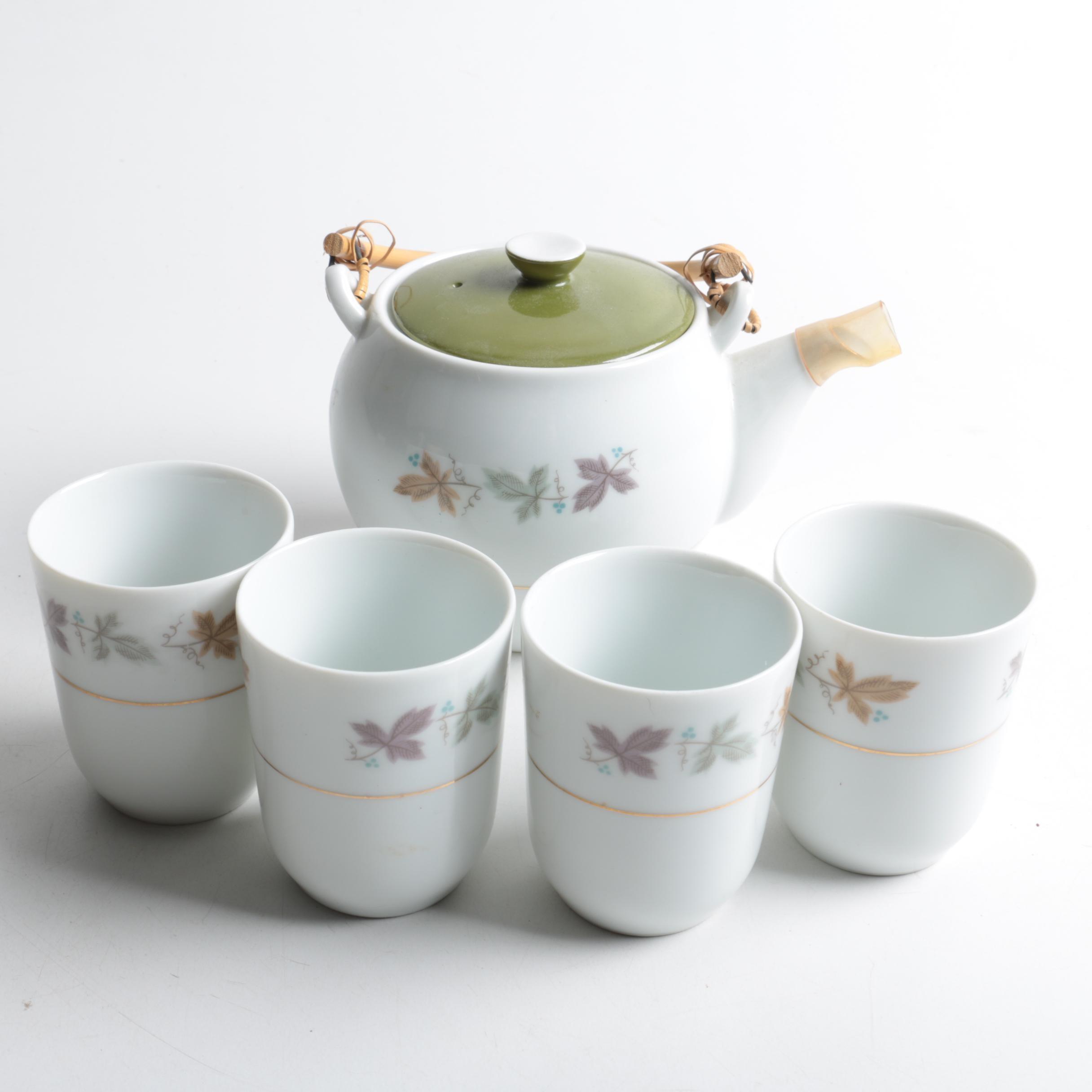 "Mid Century Modern Sango ""Argent"" Porcelain Tableware"