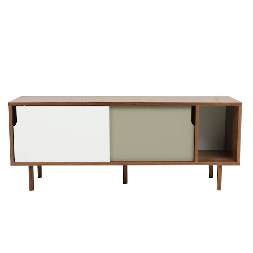 Modernist Style Laminate Entertainment Console