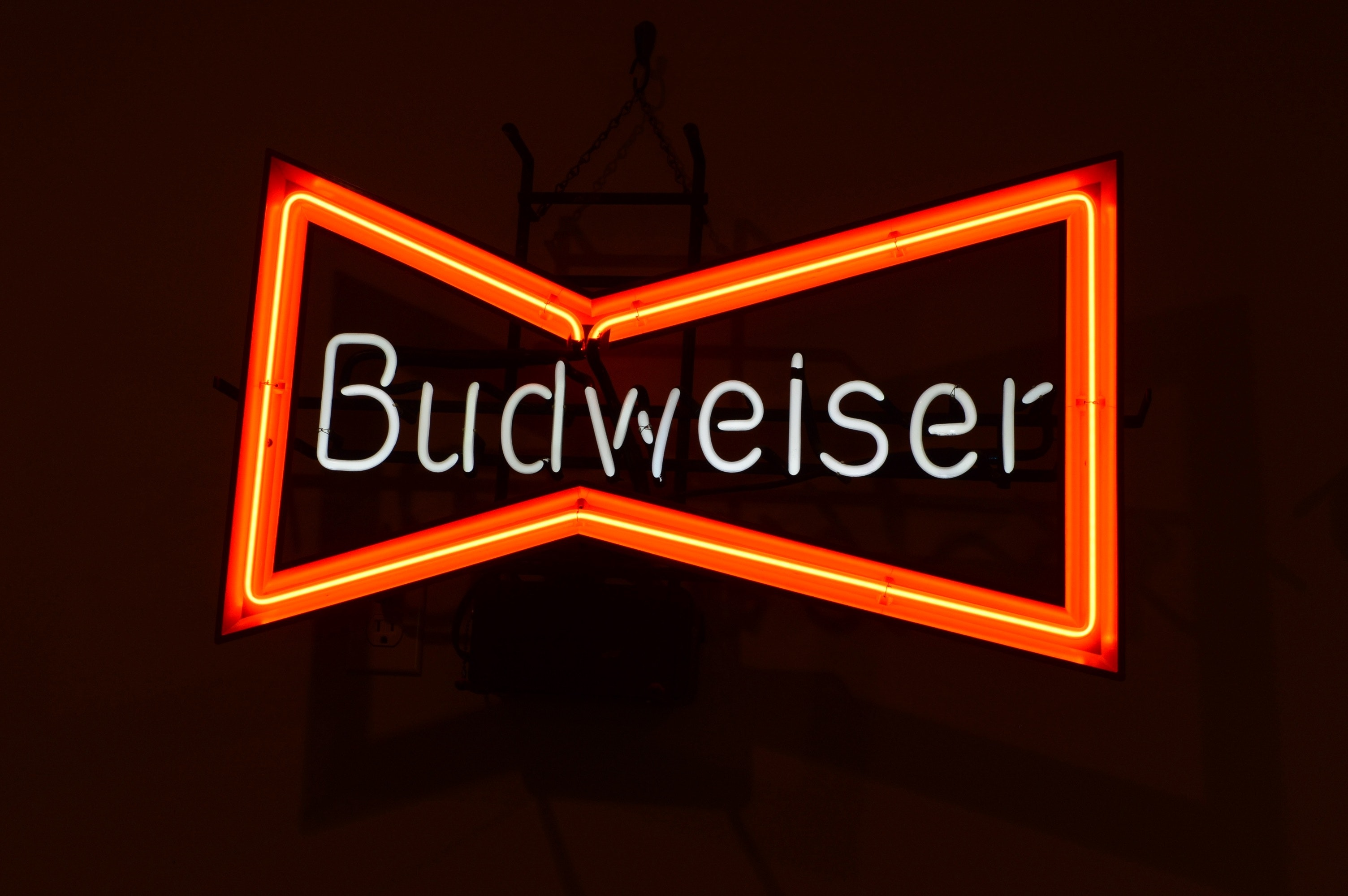 Neon Budweiser Advertising Sign