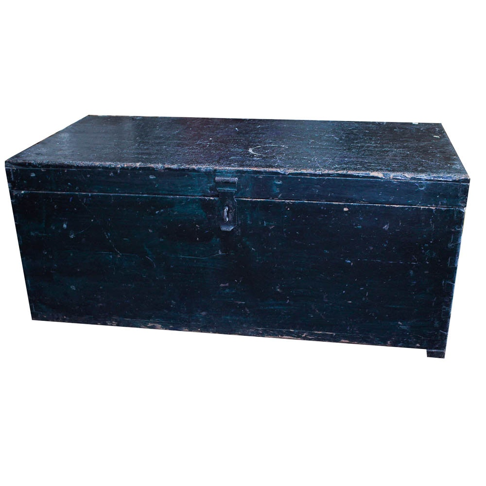 Black Wooden Trunk