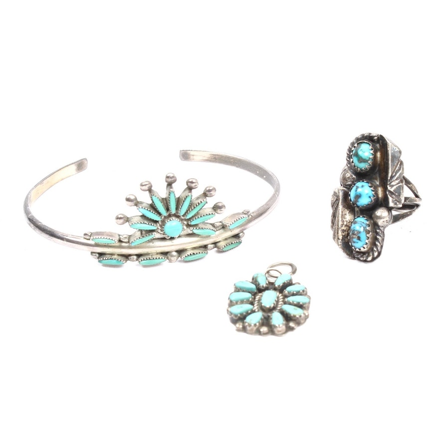 Southwestern Silver Turquoise Jewelry Of Southwestern Style Sterling Silver Turquoise Jewelry Ebth
