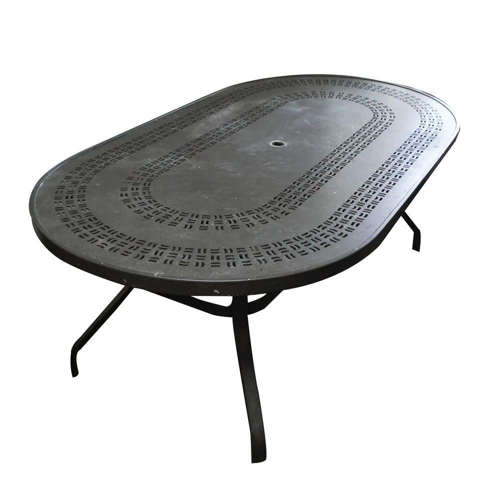 Metal Patio Dining Table