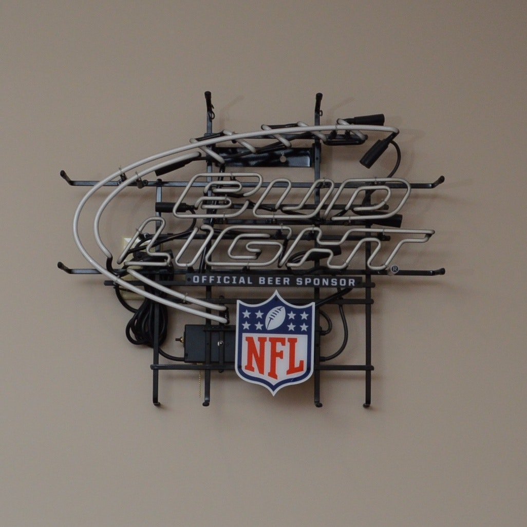 Bud Light NFL Beer Advertising Neon Sign