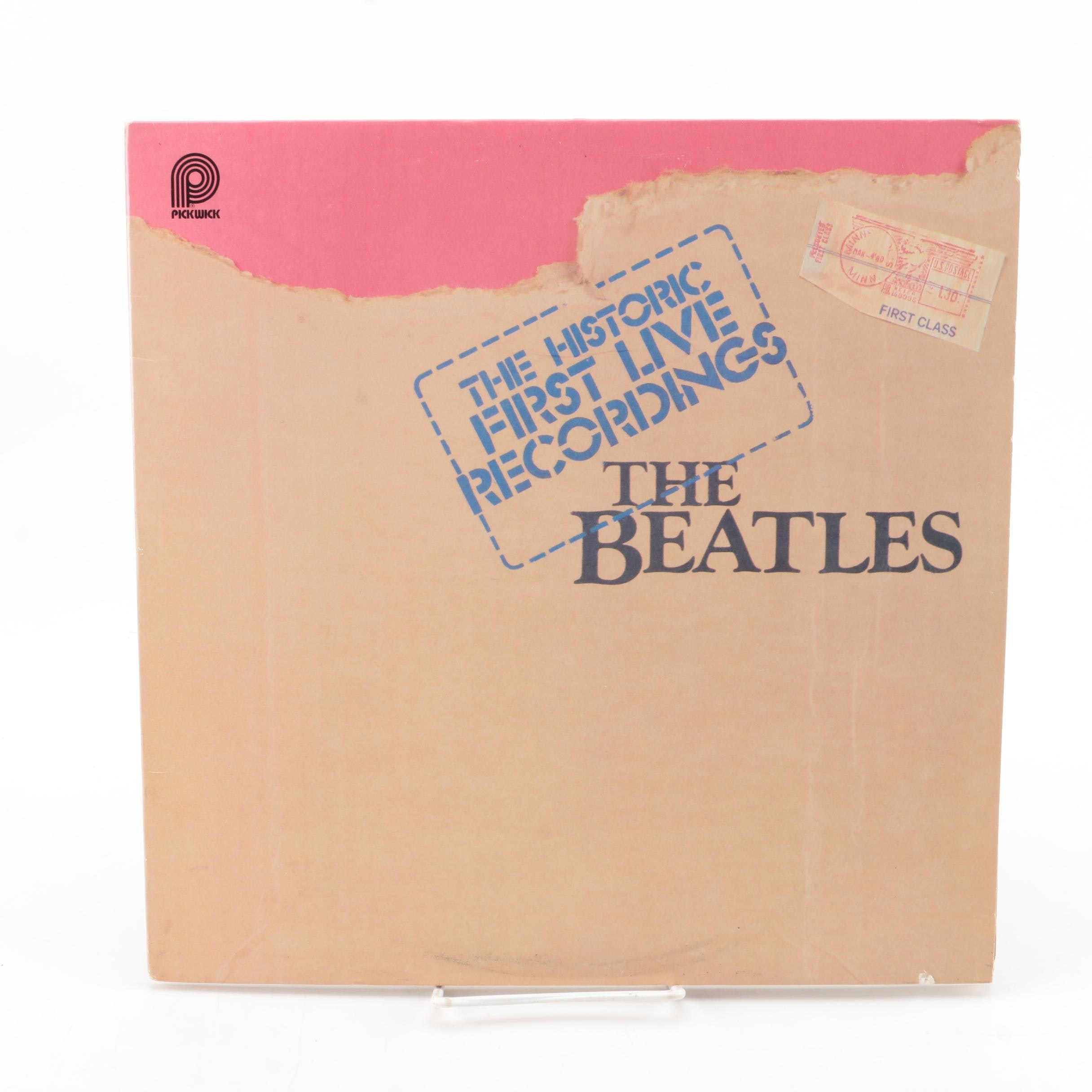 "The Beatles ""The Historic First Live Recordings"" Stereo LP Record"